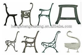 cast iron garden bench leg outdoor
