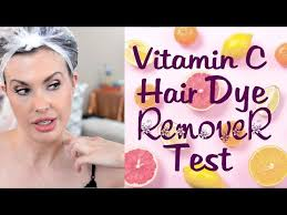 vitamin c hair color remover before and