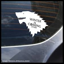 Winter Is Coming Stark Direwolf Wolf Got Game Of Thrones Inspired Viny Decal Drama
