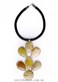 women earth yellow onix necklace
