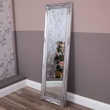 wall frame antique silver tall mirror