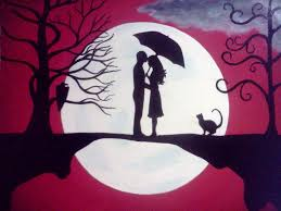 Couples Paintings Pics For Simple Heart Tree Original Acrylic ...
