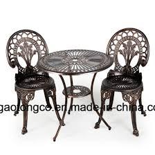 cast aluminium furniture outdoor patio