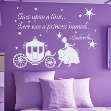 Shop Quote Once Upon A Time There Was A Princess Vinyl Sticker Interior Design Nursery Decor Sticker Decal Size 22x30 Color White Overstock 14778611