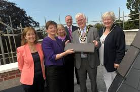 Mayor enjoys Moore Place care home, Esher, topping out ceremony   Your  Local Guardian