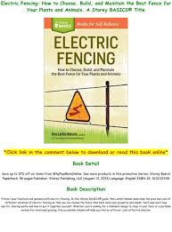 Pdf Download Electric Fencing How To Choose Build And Maintain The Best Fence For Your Plants And Text Images Music Video Glogster Edu Interactive Multimedia Posters