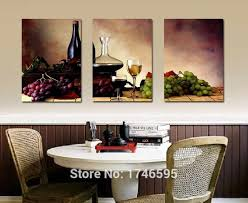 Big size modern dining room wall decor wine fruit Kitchen Wall Art ...