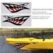 2pcs Waterproof Diy Funny Shark Teeth Mouth Sticker Decal Car Kayak Boat Truck Decoration Buy At A Low Prices On Joom E Commerce Platform