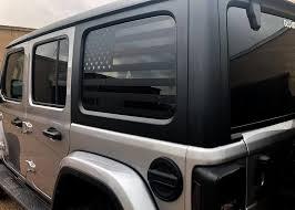 2018 Jeep Wrangler Rear Side Window Flag Decal