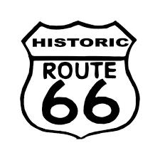 Historic Route 66 Highway Vinyl Sticker