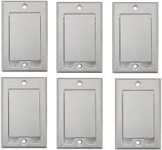 Amazon.com: (6) Central Vacuum Square Door Inlet Wall Plate White for  Nutone Beam VacuFlow: Home & Kitchen