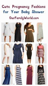 fashions to wear for your baby shower