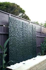 water wall outdoor feature walls design