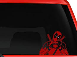 Amazon Com La Decal Deadpool Making Heart Sign New Design Car Truck Suv Decal Sticker 5 5 Silver Red Automotive