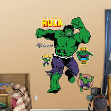 Amazon Com Fathead Marvel Classic Incredible Hulk Life Size Officially Licensed Removable Wall Decal Home Kitchen