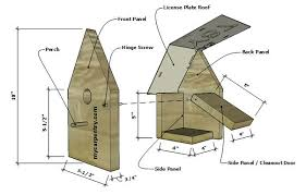 License Plate Birdhouse Instructions For Building A Bird House With A License Plat Roof