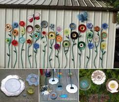 simple low budget diy garden art flower