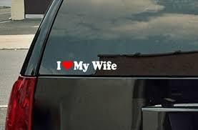 I Heart Love My Wife Bumper Sticker Window Laptop Car Decal Etsy