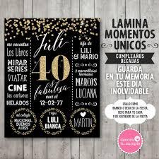 Lamina Pizarra Personalizada Cumpleanos Decadas 30 40 50 60 70 80 Anos
