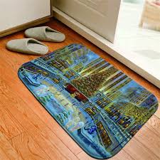 Kids Room Carpet Living Room Non Slip Area Rugs Door Mat Winter Xmas Santa Deer Home Garden Sisal Seagrass Area Rugs