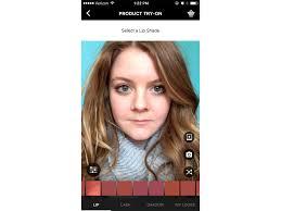 apply makeup using a futuristic