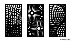 Laser Cutting Modern Abstract Decorative Vector Panels Set Privacy Fence Room Devider Indoor And Outdoor Panel Cnc Decor Interior Screen Design Element Laser Cutting Templates Buy This Stock Vector And Explore Similar