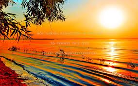 best 40 orange ocean sunset wallpaper