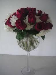 wine glass flower bouquet wine glass