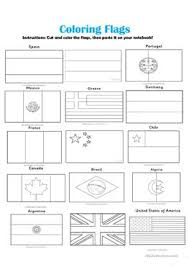 english esl flags worksheets most