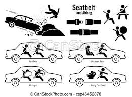 car seat belt and airbag artworks