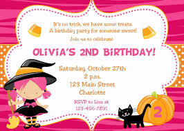 Childrens Halloween Birthday Party Invitations