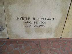 Myrtle Barnes Kirkland (1906-1997) - Find A Grave Memorial