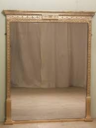 antique gilt overmantle mirror overmantel