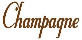 Champagne Wine Word Decals Stickers Kitchen Decals Whimsi Decals Whimsidecals
