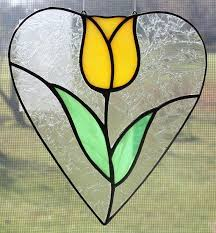 heart shaped stained glass patterns