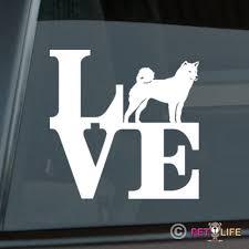 Love Shiba Inu Sticker Die Cut Vinyl Park Japanese Ken Car Decal Wish