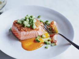 Quinoa-Crusted Salmon with Spicy Orange ...