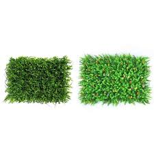 Artificial Hedge With Flowers Faux Greenery Privacy Screen Green Hedge Backdrop Plastic Garden Fake Fence Mat Panel Lattice Wall Artificial Lawn Aliexpress