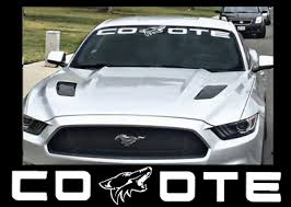 Coyote Windshield Banner Fits Ford Mustang Vinyl Decal Sticker White Red Blue Ebay