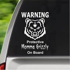 Momma Grizzly Mama Bear Mom Sticker Mom Car Decal Etsy
