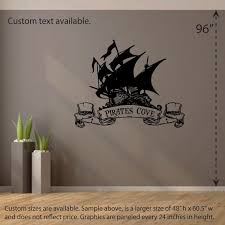 Pirates Cove Wall Decal Interior Exterior Vinyl Sticker Etsy
