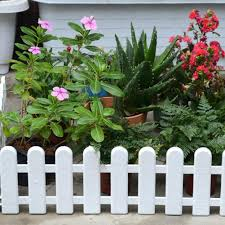 Plastic White Fence Courtyard Indoor Fence Kindergarten Flower Garden Vegetable Small Fence Christmas Tree Decoration Fencing Trellis Gates Aliexpress
