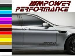 Bmw M Power Performance Body Tuning Vinyl Sticker Decal Graphic 2 Stickers Ebay