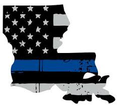 Thin Blue Line Decal State Of Louisiana Window Vinyl Sticker Various Size Ebay