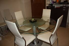 dining table with in built lazy susan