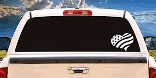 American Flag Heart Usa Car Window Decal Personalize It Toledo