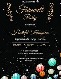 farewell invitation for students