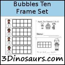 bubbles ten frame activities