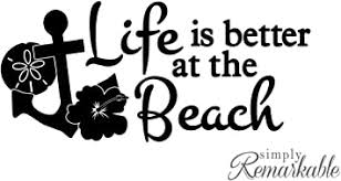Vinyl Decal Sticker For Computer Wall Car Mac Macbook And More Life Is Better At The Beach Amazon Com