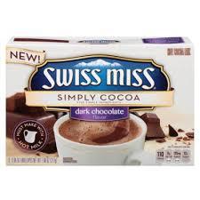 swiss miss hot cocoa mix dark chocolate